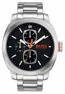 Hugo Boss Orange Mens Capetown Watch Black Dial Stainless Steel 1550029