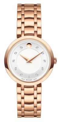 Movado Womans 1881 Quartz Rose Gold Tone Bracelet 0607100