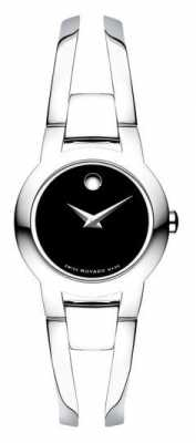 Movado Womans Amorosa Silver Tone Steel Bangle 0604759