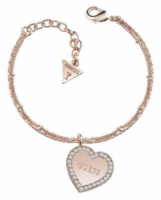 Guess My Sweetie Framed Heart Bracelet Rose Gold UBB84082-L