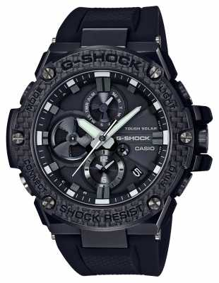Casio Mens G-Shock G-Steel Bluetooth Triple Connect Carbon Chrono GST-B100X-1AER