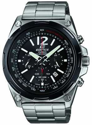 Casio Mens Edifice Solar Powered Black Chronograph EFR-545SBDB-1BVER