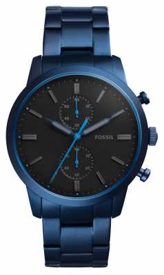 Fossil Mens Townsman Blue Stainless Steel FS5345