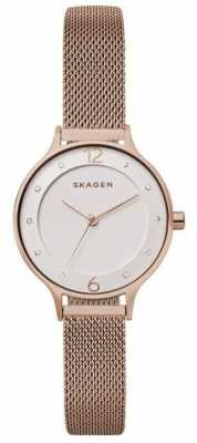 Skagen Womans Anita Medium Rose Gold Tone Mesh SKW2650