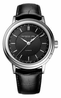 Raymond Weil Mens Maestro Automatic Black Leather 2851-STC-020001