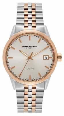 Raymond Weil Mens Freelancer Automatic Two Tone Bracelet 2740-SP5-065011