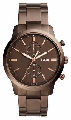 Fossil Mens Townsman Chronograph Brown FS5347