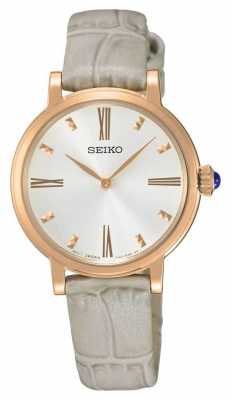 Seiko Womans Rose Gold Plated Case Watch SFQ812P1