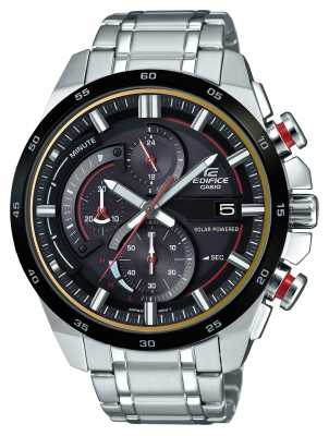 Casio Edifice 3D Chronograph Solar Powered Stainless Steel EQS-600DB-1A4UER