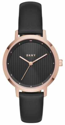 DKNY Womans Modernist Black Rose Gold NY2641