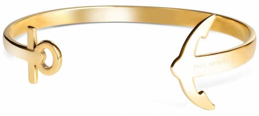 Paul Hewitt Jewellery Gold Anchor Cuff Small PH-CU-G-S
