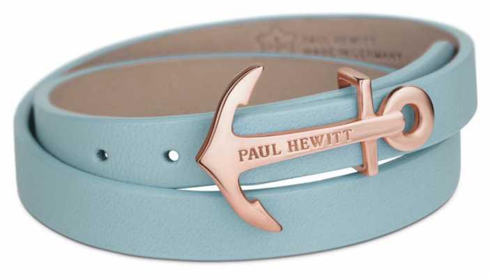 Paul Hewitt Jewellery Northbound Niagara Blue Leather Wrap Bracelet PH-WB-R-23S