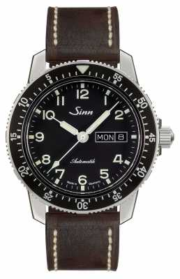 Sinn 104 St Sa A Classic Pilot Watch Dark Brown Vintage Leather 104.011