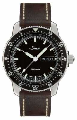 Sinn 104 St Sa I Classic Pilot Watch Dark Brown Vintage Leather 104.010