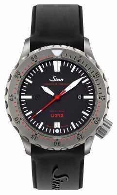 Sinn U212 EZM 16 Mission Timer U-Boat Steel Black Silicone Strap 212.040
