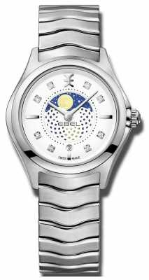 EBEL Womens Wave Moonphase Stainless Steel Watch 1216372