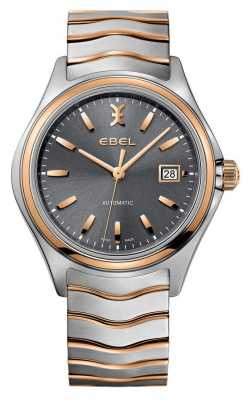EBEL Mens Wave Two Tone-grey Dial Watch 1216333