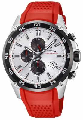 Festina Mens Originals Tour Of Britain 2017 Red rubber strap F20330/1