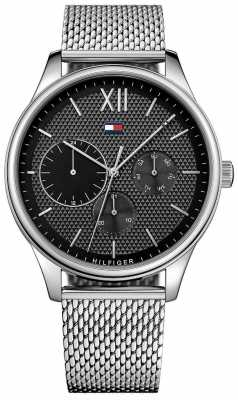 Tommy Hilfiger Mens Damon Stainless Steel Mesh Watch 1791415