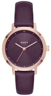 DKNY Womans Modernist Purple Rose Gold NY2640