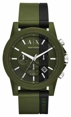 Armani Exchange Mens Green Chronograph Watch AX1333
