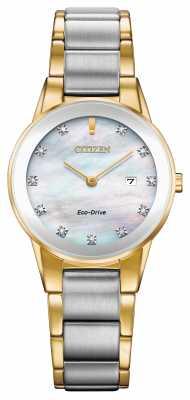 Citizen ADVERTISED MODEL - Womens Axiom Diamond Date Two Tone GA1054-50D
