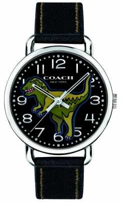 Coach Unisex Delancey Rexy black leather dinosaur 14400008