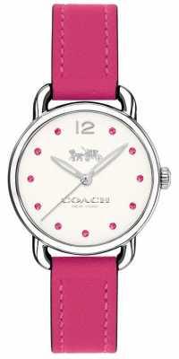 Coach Womans Delancey Watch Pink Leather Strap 14502906