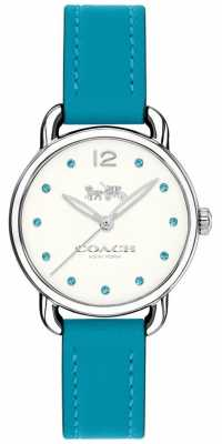 Coach Womans Delancey Watch Blue Leather Strap 14502911