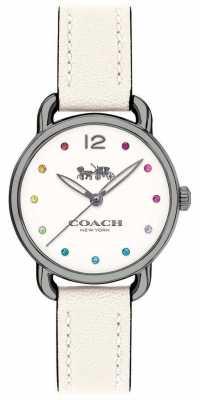 Coach Womans Delancey Watch White Leather Strap 14502915