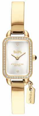 Coach Womans Ludlow Gold Rectangle Dial 14502824