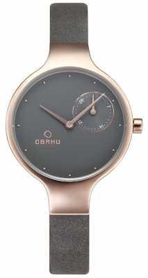 Obaku Womans Eng Pebble Grey Watch v201LDVJRJ