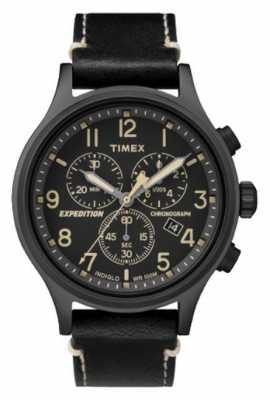 Timex Expedition Scout Chronograph Black Strap Black Dial TW4B09100D