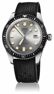 Oris Mens DIVERS SIXTY-FIVE Rubber Strap Watch 01 733 7720 4051-07 4 21 18