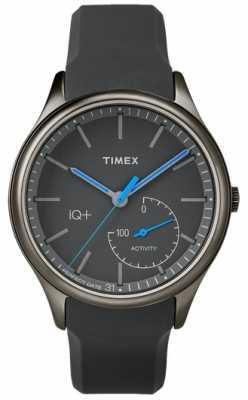 Timex Mens IQ Plus Move Grey Silicone Strap TW2P94900UK