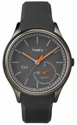 Timex Mens IQ Plus Move Grey Silicone Strap TW2P95000UK