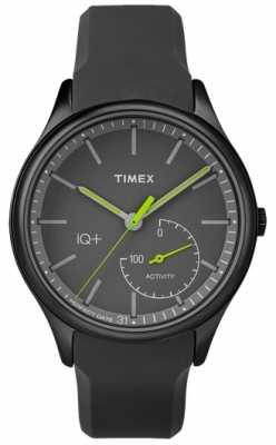 Timex Mens IQ Plus Move Black Silicone Strap TW2P95100UK