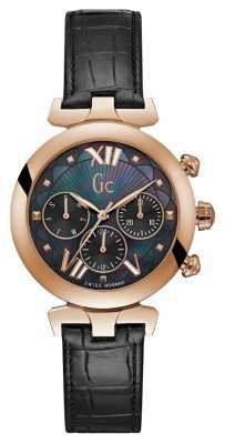 Gc Womens Ladybelle Sport 2 Rose Gold Tone Watch Y28004L2
