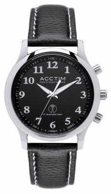 Acctim Mens Oro Radio Controlled Black Leather Strap 60053