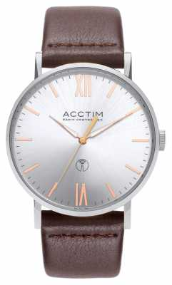 Acctim Mens Sterling Radio Controlled Brown Leather Strap 60416