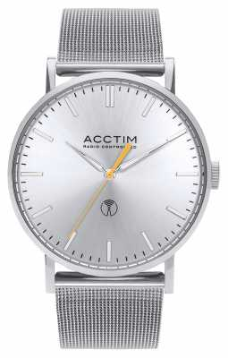 Acctim Mens Sterling Radio Controlled Stainless Steel Mesh Strap 60427