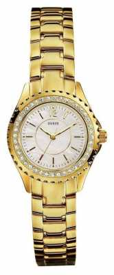 Guess Womens Gold Tone Bracelet Watch I11068L1