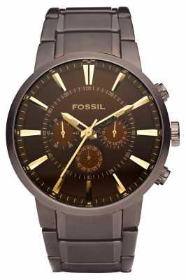Fossil Mens Brown Dial Bracelet Watch FS4357