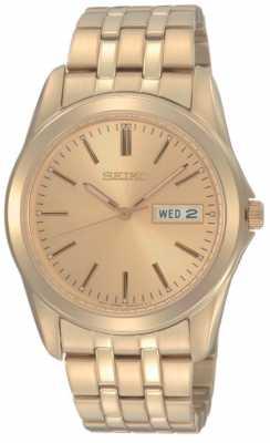 Seiko Mens Gold Tone Bracelet Watch SGGA48P1