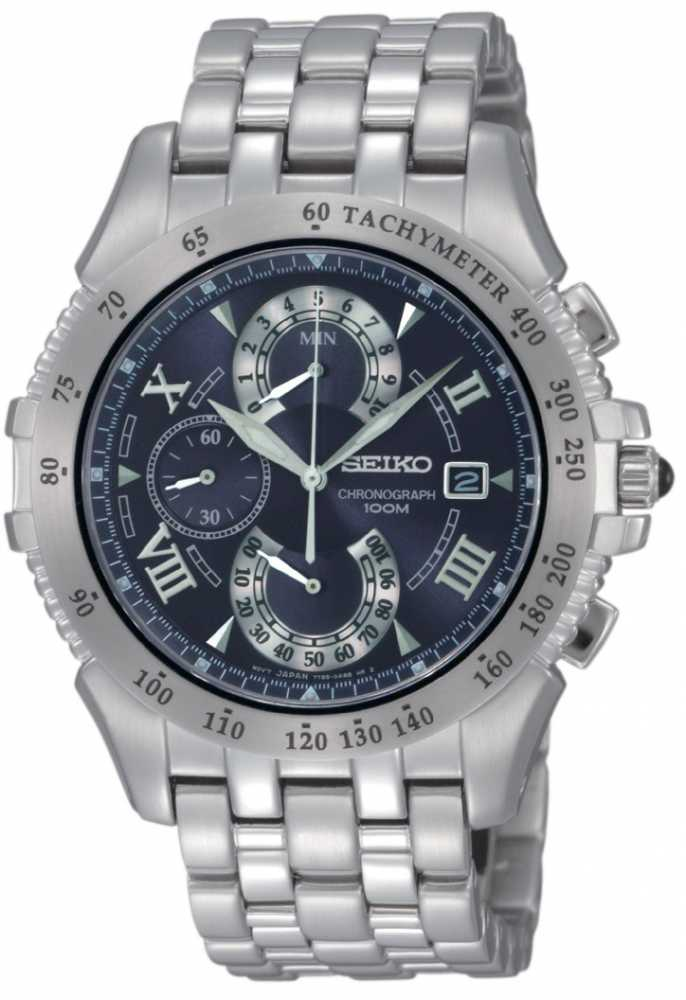 Seiko mens stainless steel battery watch spc043p9 for Watches battery