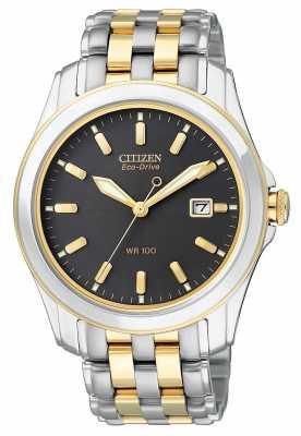 Citizen Mens Eco-Drive Black Dial Watch BM6734-55E