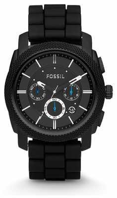 Fossil Mens Black Chronograph Strap Watch FS4487