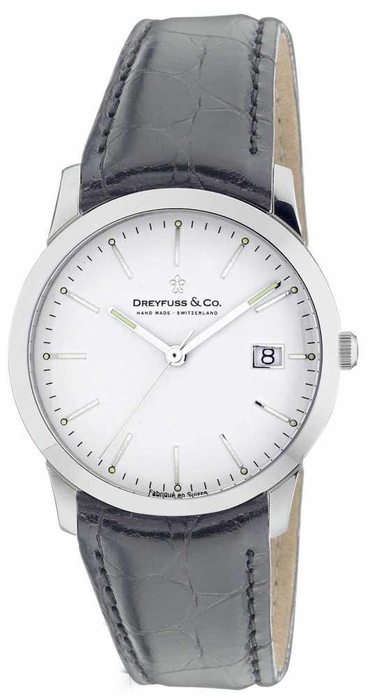 dreyfuss mens silver coloured dgs00004 06