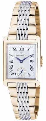 Dreyfuss Womens Two Tone Stainless Steel Bracelet Watch DLB00008/21