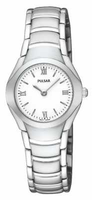 Pulsar Womens Stainless Steel Analogue Bracelet Watch PEGE49X1